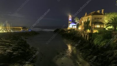Cascais lighthouse, timelapse