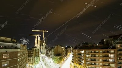 Barcelona star trails