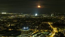 Moonrise over Munich, timelapse