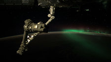 Aurora Australis from space, ISS video