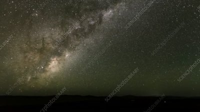 Milky Way, timelapse