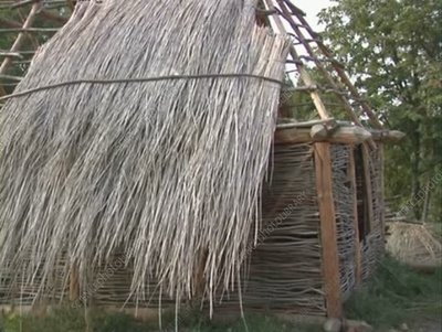Reconstruction of neolithic house