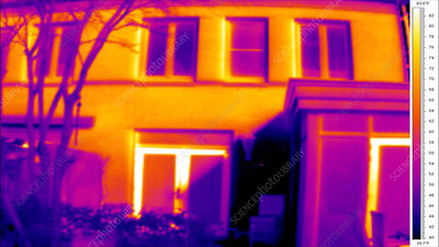 Thermographic timelapse of house
