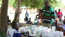 Medecins Sans Frontieres clinic, Malawi