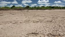 Farmland drying after flooding, Malawi