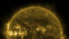 Active solar areas, time-lapse SDO footage