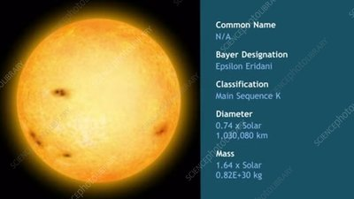 Epsilon Eridani main sequence star