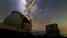 Keck Telescope laser guide star