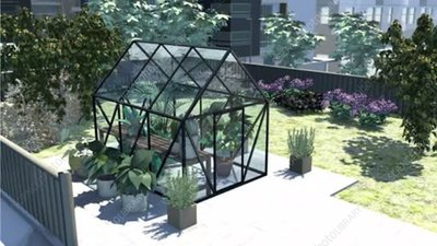 Greenhouse warming mechanism, animation