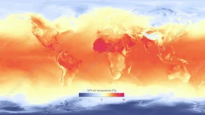 Global temperature forecast, animation