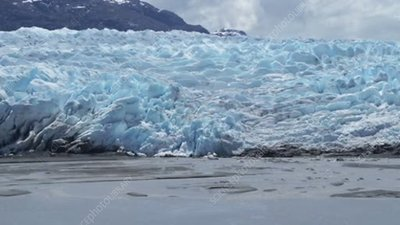 Glacier at the coast, Antarctica