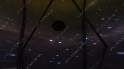 Stars reflected in telescope dish