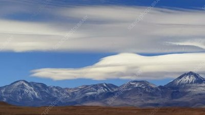 Lenticular clouds over Chilean volcanoes, time-lapse footage