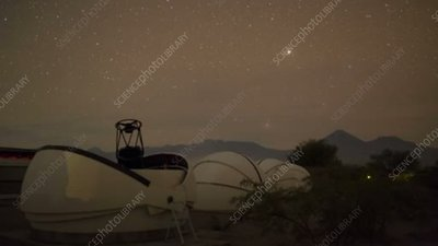 Astrotourism in the Atacama Desert, time-lapse footage
