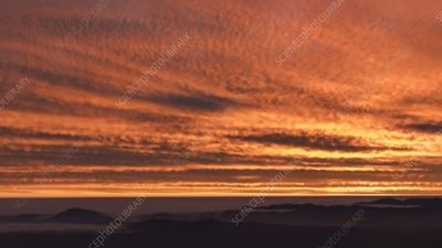 Clouds at sunset over the Atacama Desert, time-lapse footage