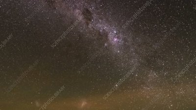 Milky Way over Paranal Observatory, time-lapse footage