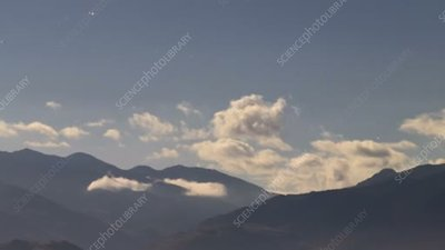 Clouds over Chilean desert, time-lapse footage