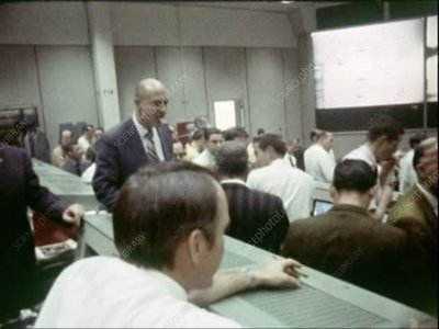 Apollo 13 mission control, shaking hands