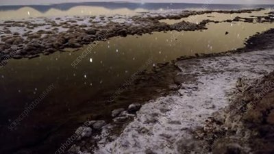 Stars reflected in Atacama salt flat, time-lapse footage