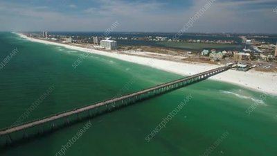 Aerial view of pier in Florida
