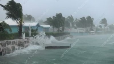 Tropical storm in bay