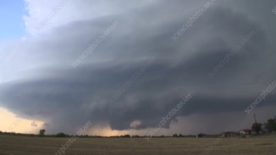 Supercell thunderstorm, Texas, USA, time-lapse footage