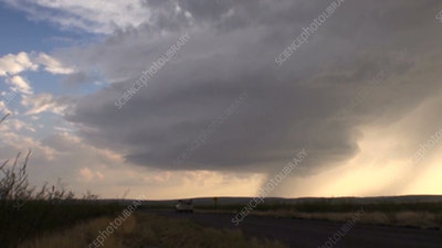 Supercell thunderstorm, New Mexico, USA, time-lapse footage