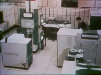 Mission Control computer room, 1970s