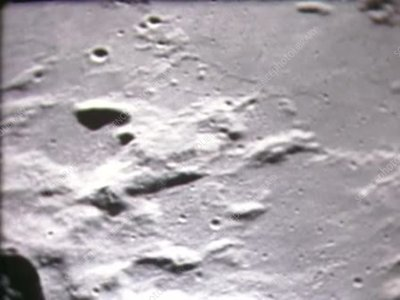 Moon from lunar orbit during Apollo 11, July 1969