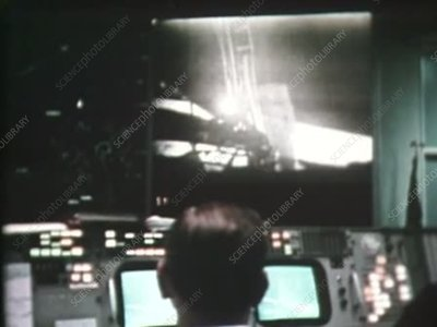 Mission Control as Armstrong steps onto the Moon, 1969