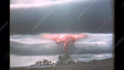 1950s Soviet atom bomb test and effects