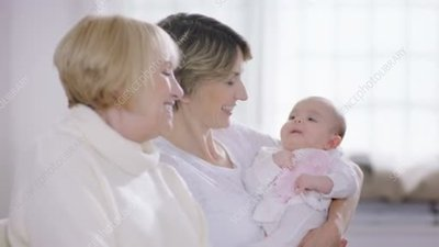 Mother, grandmother and baby