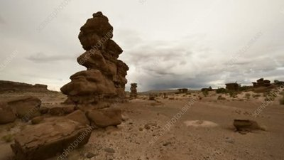 Desert rock formations, time-lapse footage