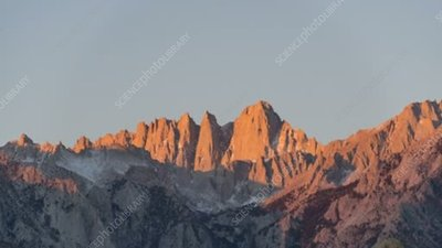 Sunrise on Mount Whitney, time-lapse footage