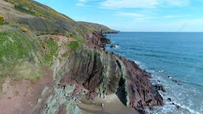 Old Red Sandstone cliffs, Wales
