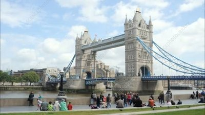 Tourists at Tower Bridge, London, timelapse