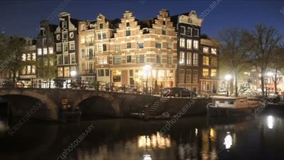 Amsterdam canals, timelapse