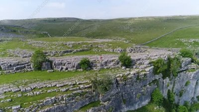 Malham Cove limestone pavements, drone footage