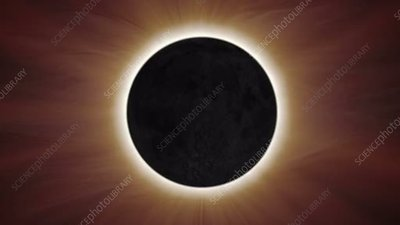 Total solar eclipse, animation