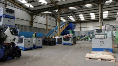 Plastic recycling warehouse and materials