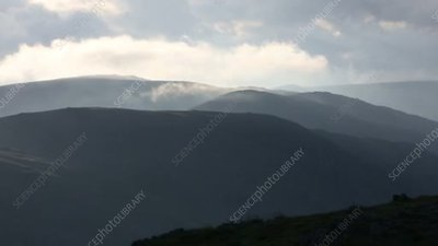 Low cloud on mountains