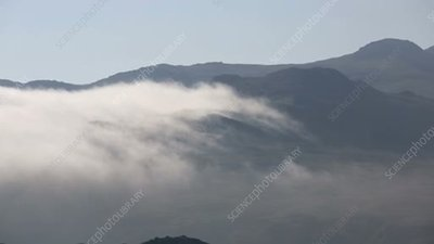 Low cloud over hills