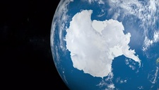 Antarctica from space, animation