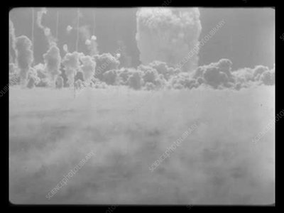 Tumbler-Snapper Dog atomic test, high-speed footage, 1952
