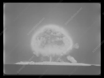 Teapot Bee atomic test, high-speed footage, 1955