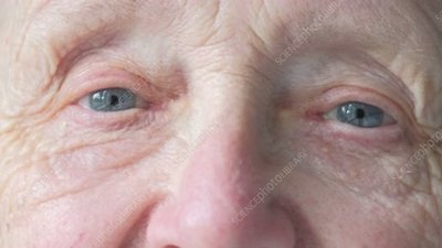 Close up of elderly woman's eyes