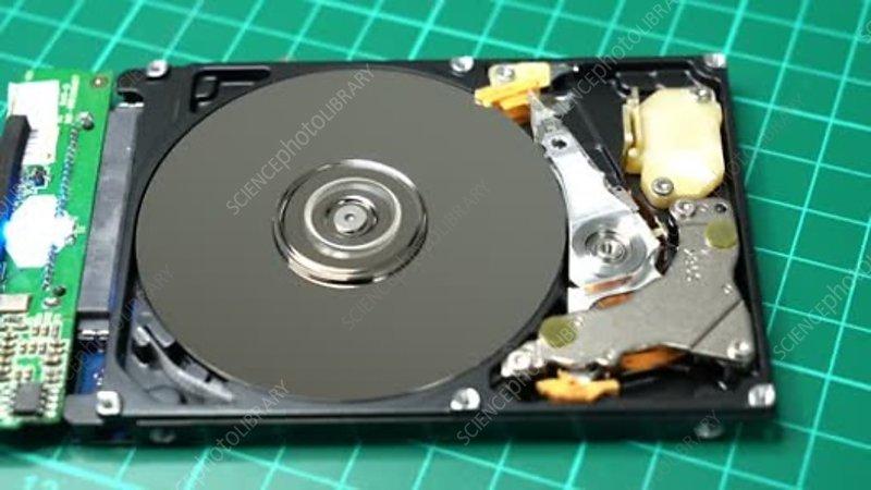 Computer hard disk - Stock Video Clip - K007/9188 ...