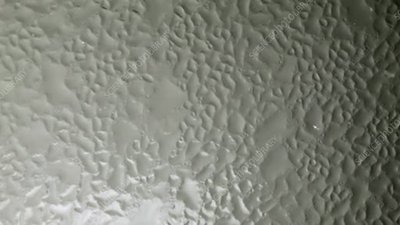Water condensation forming, timelapse