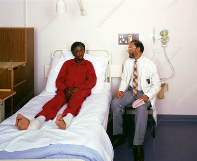 A patient suffering from sickle cell anaemia