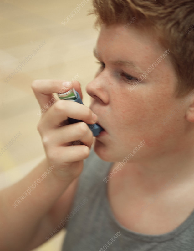 Asthmatic boy